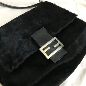 Authentic Vintage Black Animal Fur Fendi